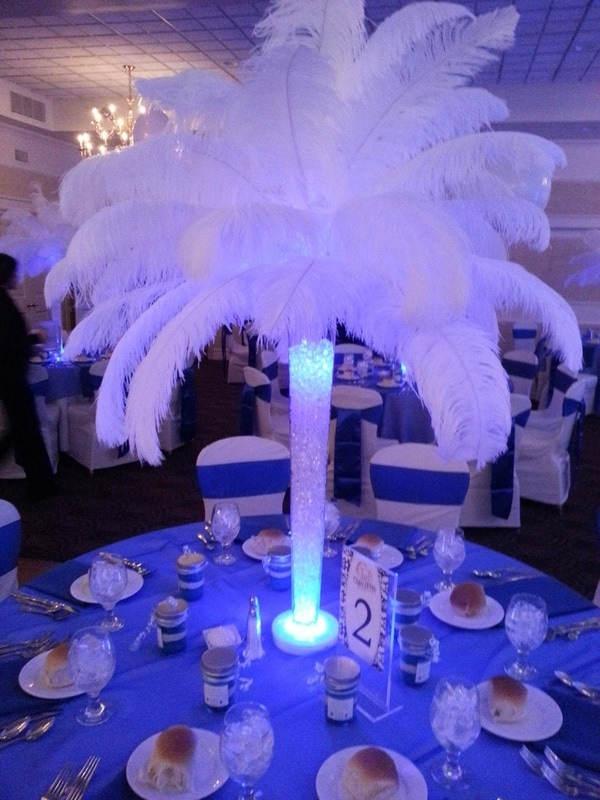 Feather centerpieces centerpiece rental for
